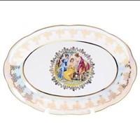 Блюдо овальное Queen's Crown Мадонна перламутр 39 см