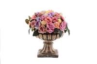Цветы ваза Пиарл средняя белая Н-24,L-36