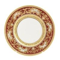 Набор тарелок Falkenporzellan Alena 3D Bordeaux Gold Constanza 17см(6 шт)