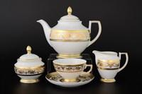Чайный сервиз Falkenporzellan Imperial White Gold 6 персон 17 предметов