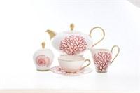 Чайный сервиз Falkenporzellan Red Gold 6 персон 17 предметов