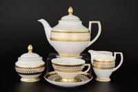 Чайный сервиз Falkenporzellan Toronto B&W Gold 6 персон 17 предметов