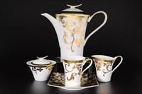 Чайный сервиз FalkenporzellanTosca Black Gold 6 персон 17 предметов