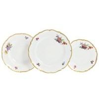 Набор тарелок Queen's Crown Мейсенский букет 18 предметов