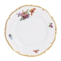Набор тарелок Queen's Crown Мейсенский букет 21см (6 шт)