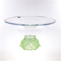 Фруктовница зеленая Crystalite Bohemia Frost 35 см