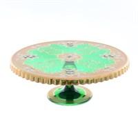 Тортница на ножке Star Crystal Лепка зеленая