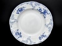 Блюдо круглое глубокое Bernadotte Синие розы 32см