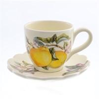 Набор чашка с блюдцем NUOVA CER Лимоны 2 предмета 250мл