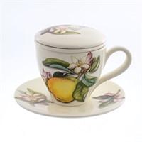 Набор чашка с блюдцем NUOVA CER Лимоны 4 предмета