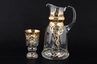 Набор для воды Bohemia Смальта Золотой узор 7 предметов