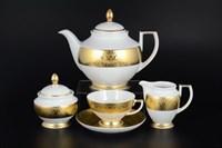 Чайный сервиз Falkenporzellan Diamond Full Gold 6 персон 17 предметов