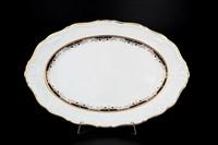 Блюдо овальное Thun Мария Луиза Синяя лилия 34см