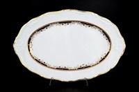 Блюдо овальное Thun Мария Луиза Синяя лилия 36см