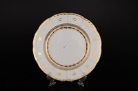 Набор тарелок Thun Менуэт Золотой орнамент Натали 19см (6 шт)