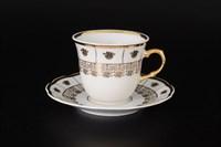 Набор чайных пар Тхун Менуэт Золотой орнамент 225мл (6 пар)
