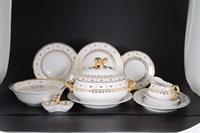 Столовый сервиз Thun Менуэт Золотой орнамент Натали 6 персон 27 предметов
