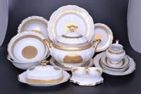 Столовый сервиз Carlsbad Ромео Золотой орнамент 6 персон 25 предметов