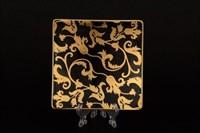 Набор розеток квадратных Falkenporzellan Tosca Black Gold 12 см (6 шт)