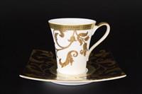 Набор чайных пар Falkenporzellan Tosca Black Gold 220мл (6 пар)