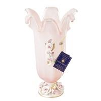 Ваза White Cristal Розовый кварц