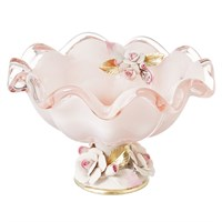 Конфетница White Cristal Розовый кварц