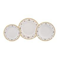 Набор тарелок 18 предметов Falkenporzellan Constanza cream - Primavera Gold