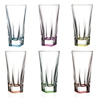 Набор стаканов для воды RCR Fusion COLOUR 380мл (6 шт)