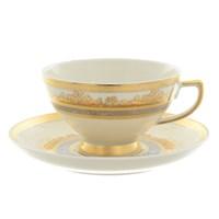 Набор чайных пар Falkenporzellan Cream Gold 220мл(6/6 шт)