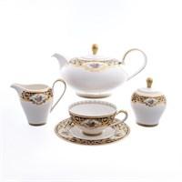 Чайный сервиз Falkenporzellan Opal cobalt gold 6 персон