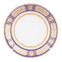 Набор глубоких тарелок 23 см Leander Соната Золотой орнамент Кобальт (6 шт)