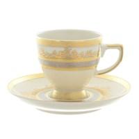 Набор кофейных пар Falkenporzellan Cream Gold (6пар/6шт)