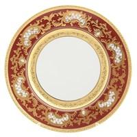 Набор тарелок Falkenporzellan Alena 3D Bordeaux Gold Constanza 28,5см(6 шт)