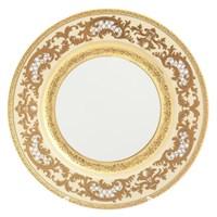 Блюдо круглое Falkenporzellan Alena 3D Creme Gold Constanza 32 см