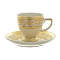 Набор кофейных пар мокко Falkenporzellan Imperial Creme Gold (6 шт)