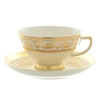 Набор чайных пар Falkenporzellan Imperial Cream Gold 220 мл