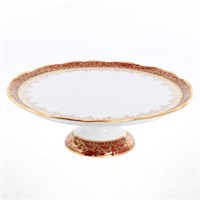 Тарелка для торта Sterne porcelan Красный лист 32см (6 пар)