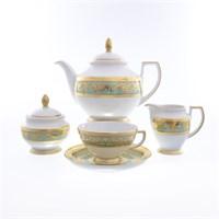 Чайный сервиз Falkenporzellan Imperia Seladon Gold 6 персон 17 предметов