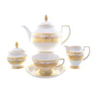 Чайный сервиз Falkenporzellan Cream Gold 6 персон 17 предметов