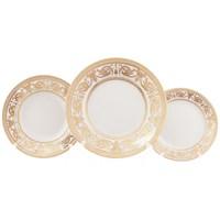 Набор тарелок Falkenporzellan Imperial Cream Gold 18 предметов