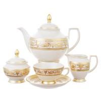 Чайный сервиз Falkenporzellan Imperial Cream Gold 6 персон 23 предмета