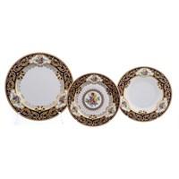Набор тарелок Falkenporzellan Opal cobalt gold 18 предметов
