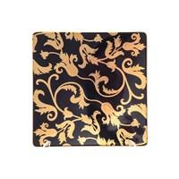 Набор тарелок квадратных Falkenporzellan Tosca Black Gold 17см(6 шт)