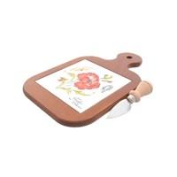 Набор для нарезки сыра NUOVA CER 2 предмета разделочная доска + нож