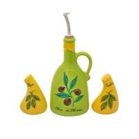 Набор для специй NUOVA CER 5 предметов (2 бутылки для масла + солонка + перечница на подставке)