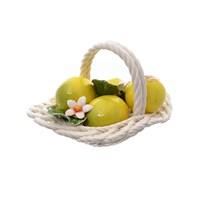 Корзина декоративная овальная с лимонами 20 см