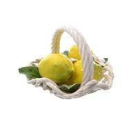 Корзина с волнистым краем Orgia Лимоны 20 см