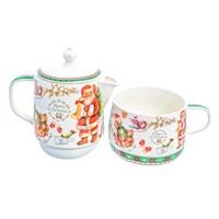 Набор Christmas time 2 предмета (заварочный чайник + чашка) Royal Classic