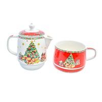 Набор Christmas time 2 предмета (заварочный чайник + чашка) Royal Classics