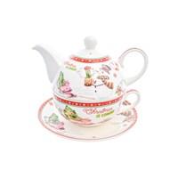 Набор Christmas time 3 предмета (заварочный чайник + чашка + блюдце) Royal Classics